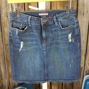 Vintage TOMMY HILFIGER jean mini skirt, size 2